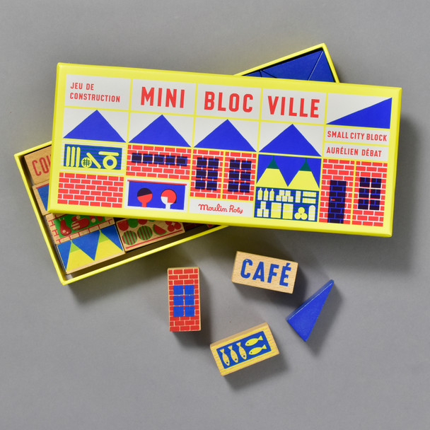 Mini Bloc Ville front of box and blocks