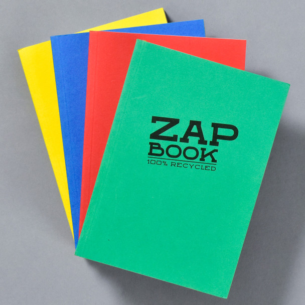 Zap Book Sketchbooks, green, red, blue, yellow