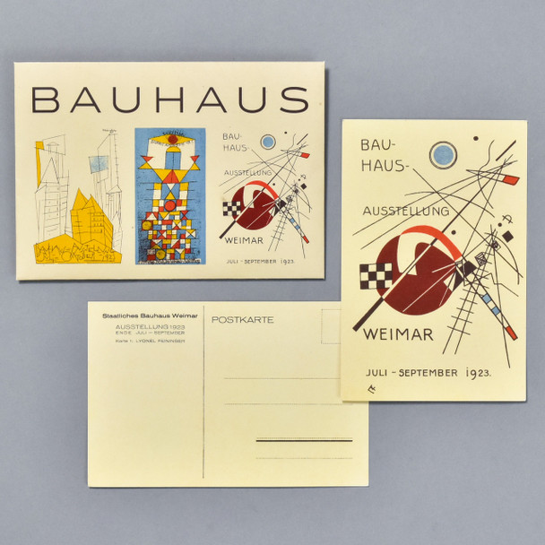 Bauhaus Postcard Set, envelope and card, front and back