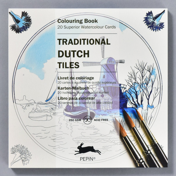 Traditional Dutch Tiles Coloring Book, front of book