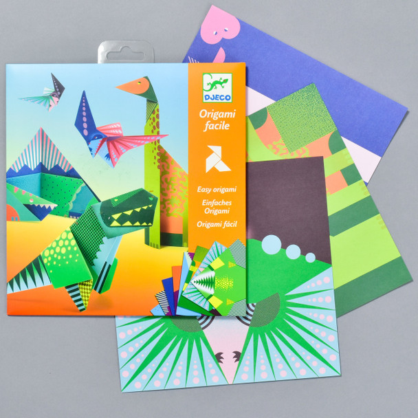 Dinosaur Origami package and contents