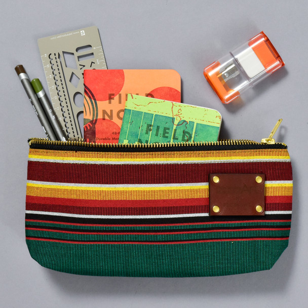 Peg and Awl x PMA Pencil Pouch, with art making supplies inside