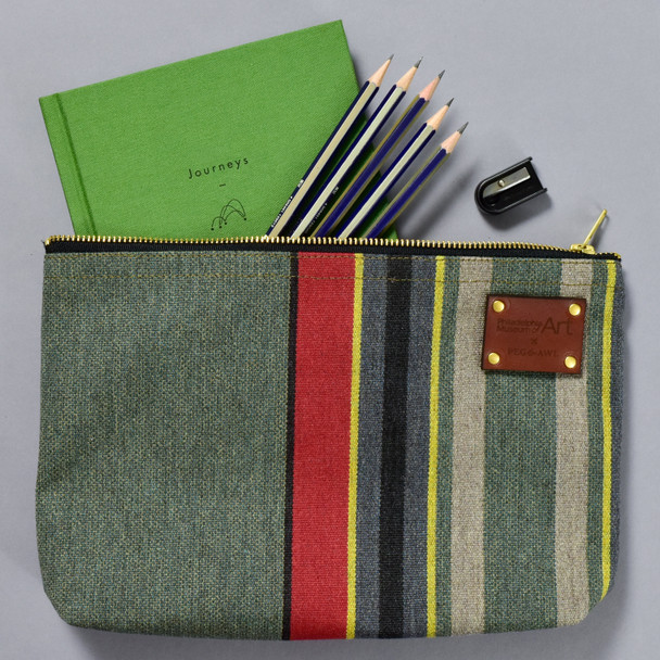 Peg and Awl x PMA Maker Pouch with art making items inside