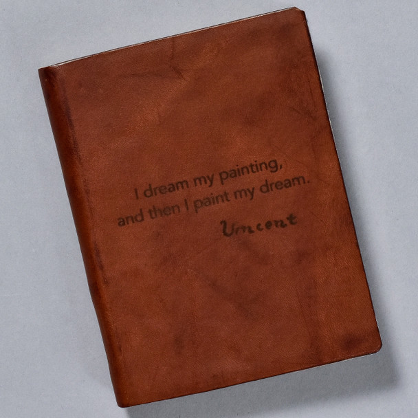 Leather Journal with van Gogh Quote front