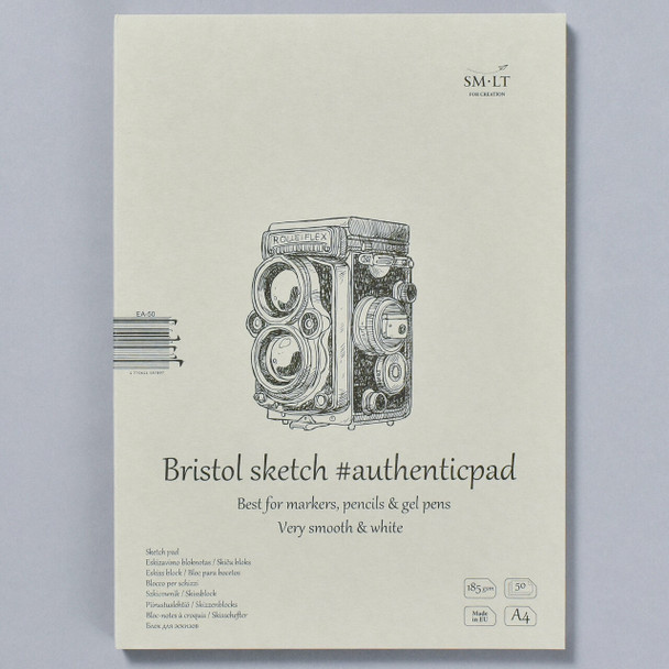 SMLT Authentic Sketch Pad Bristol in Folder, front
