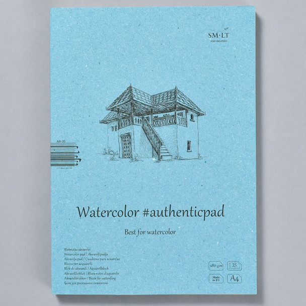 SMLT Authentic Watercolor Pad in Folder, front
