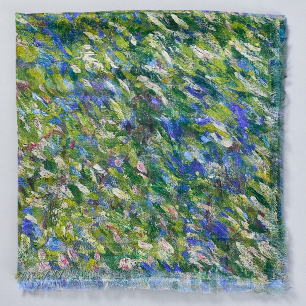 Monet Bend in the Epte River Scarf, folded