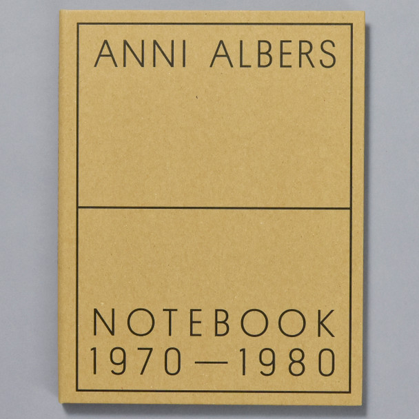 Anni Albers: Notebook 1970-1980, front cover