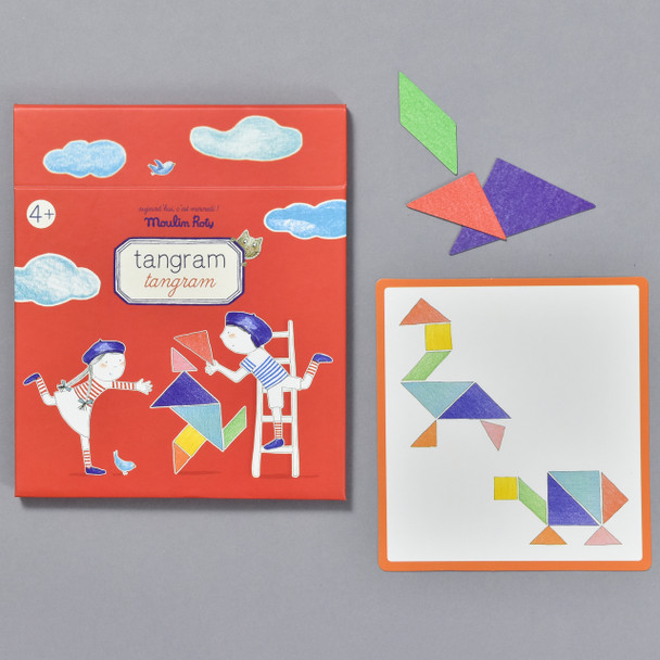 TANGRAM, packaging with contents