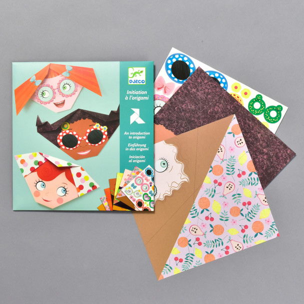Pretty Faces Origami, front of packaging and contents