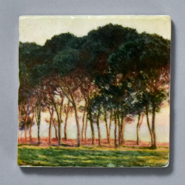 Monet Under The Pines, Evening Tile by The Painted Lily