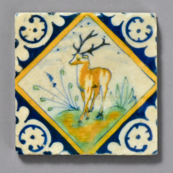 Dutch Stag in Diamond Tile by The Painted Lily