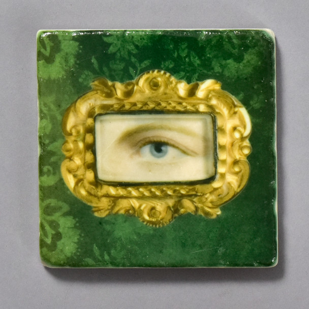 Portrait of a Left Eye Tile by The Painted Lily