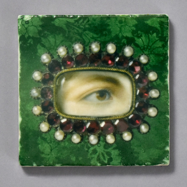 Portrait of Sarah Best's Right Eye Tile by The Painted Lily