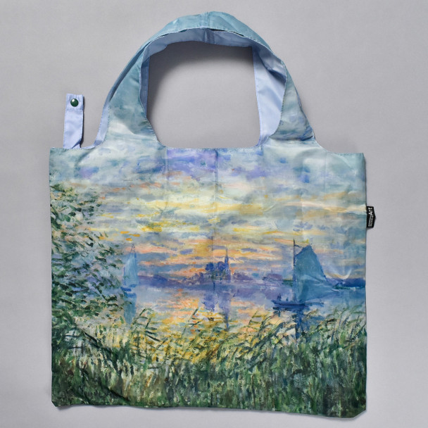 Monet Marine View with a Sunset Folding Tote open tote