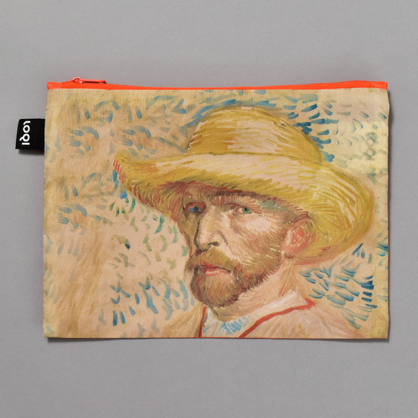 van Gogh Self-Portrait Zippered Pouch, front