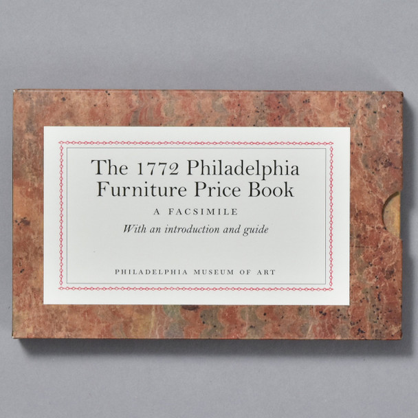 Cover / slipcase of book The 1772 Philadelphia Furniture Price Book: A Facsimile