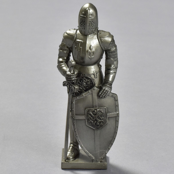 Knight with Shield and Sword Reproduction, front