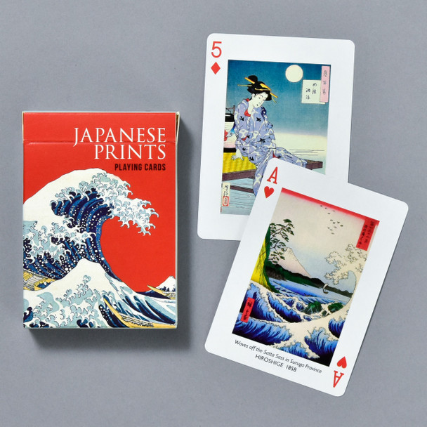 Japanese Prints Playing Cards, box and cards