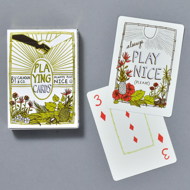 Always Play Nice Playing Cards front of box and cards