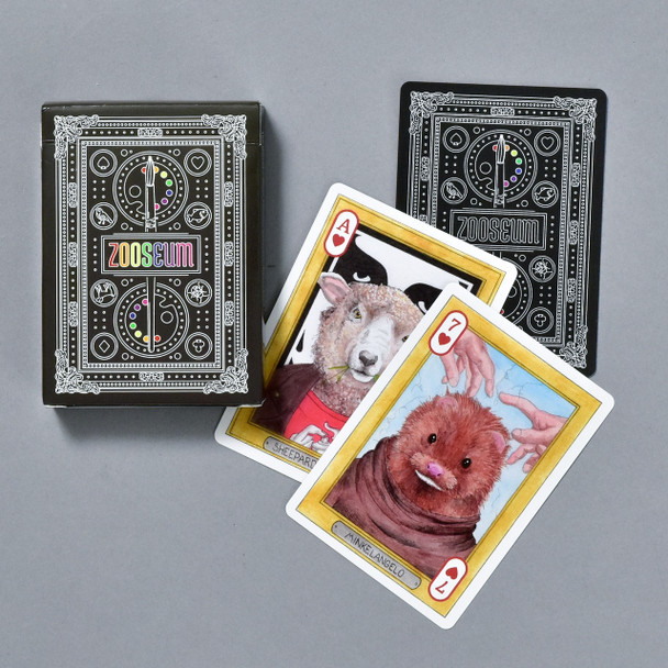 Zooseum Playing Cards, box and cards