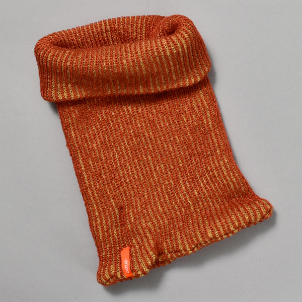 Knit Snood Scarf Russet