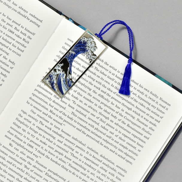 Hokusai Under the Wave, off Kanagawa Bookmark, in book
