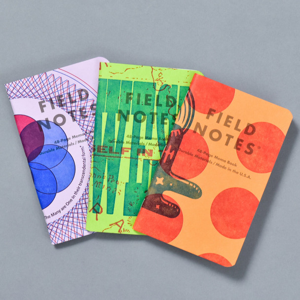 United States of Letterpress Notebooks A (Set of 3), fanned out