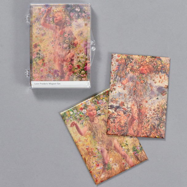 Leon Frederic: Four Seasons Magnet Set, case and magnets