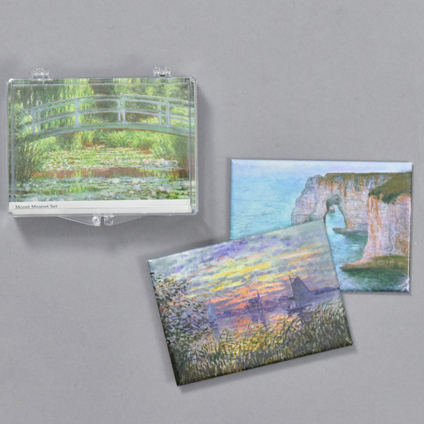 Monet Land and Seascapes Magnet Set, case and magnets