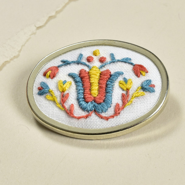 Pin Embroidered Tulip, front
