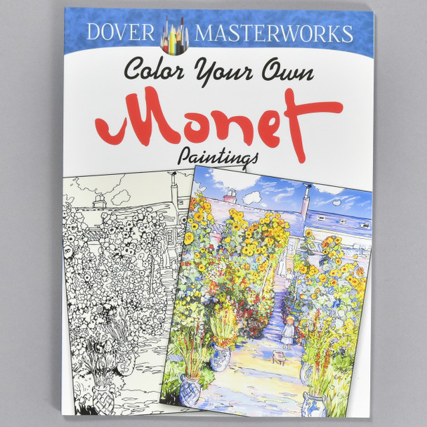 Front cover of the book Color Your Own Monet Paintings