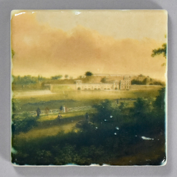 Thomas Doughty: View of the Fairmount Waterworks Tile by The Painted Lily