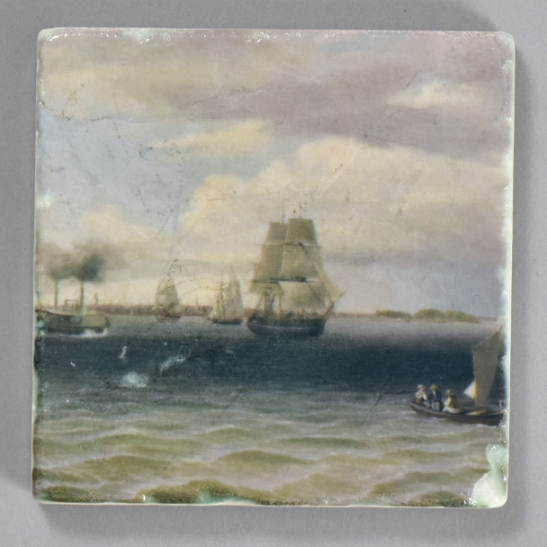 Thomas Birch: Philadelphia Harbor Tile by The Painted Lily