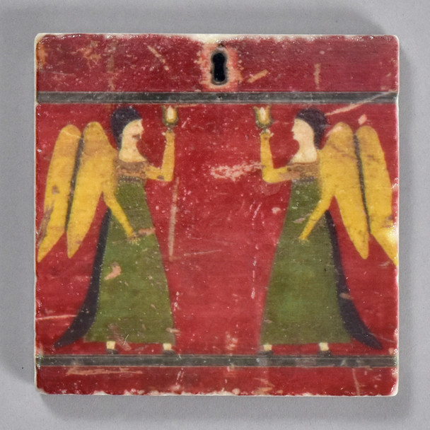 Angels Detail Fraktur Chest of Drawers Tile by The Painted Lily