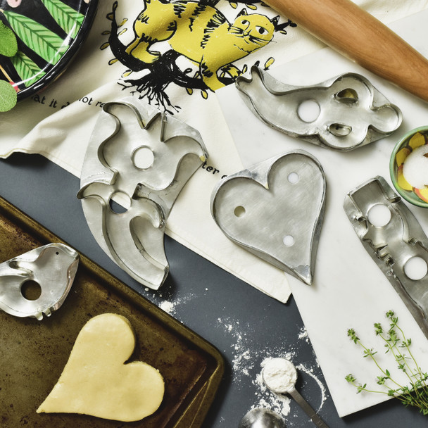 Heart Cookie Cutter Reproduction, with baking items