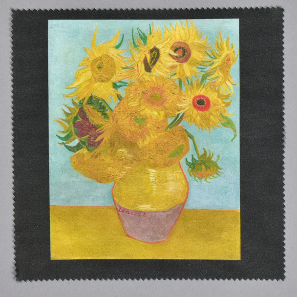 van Gogh Sunflowers Lens Cleaning Cloth
