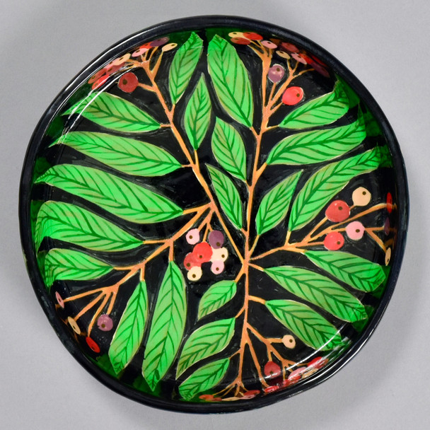 Red Berries Pie Plate, from above