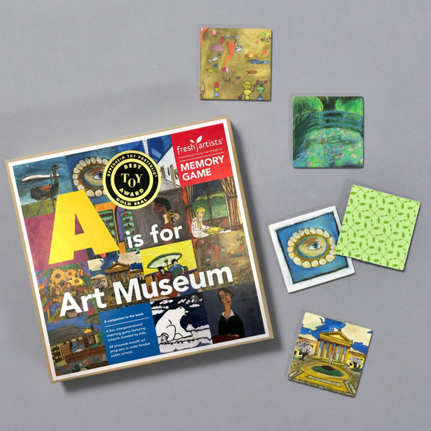 A Is For Art Museum Memory Game, box with some contents