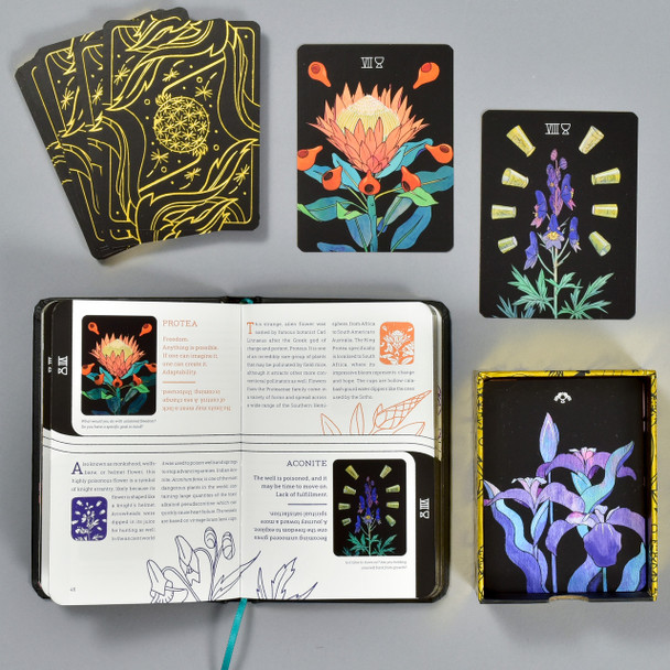 Botanica: A Tarot Deck About the Language of Flowers, book and cards