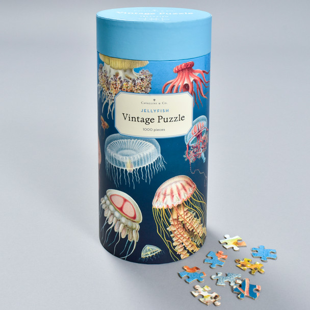 Jellyfish Vintage Puzzle, front of packaging