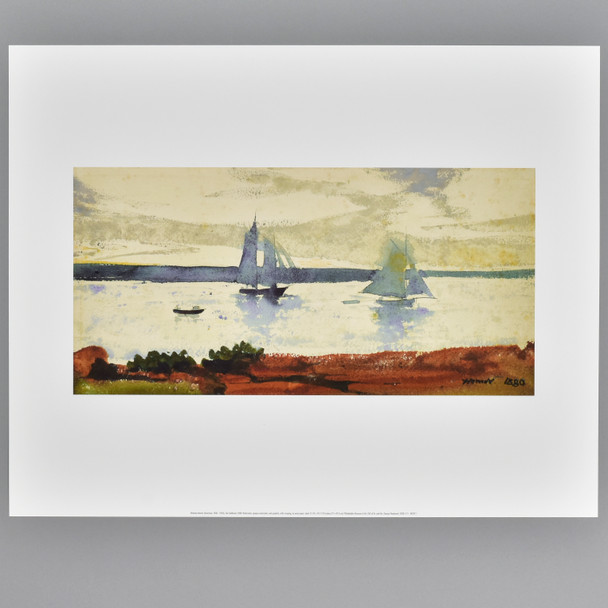 Homer: Two Sailboats Archival Poster