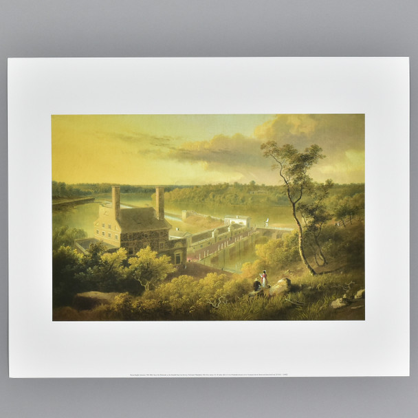 Doughty:  View of the Waterworks, on the Schuylkill Seen from the Top of Fairmount, Philadelphia Archival Poster