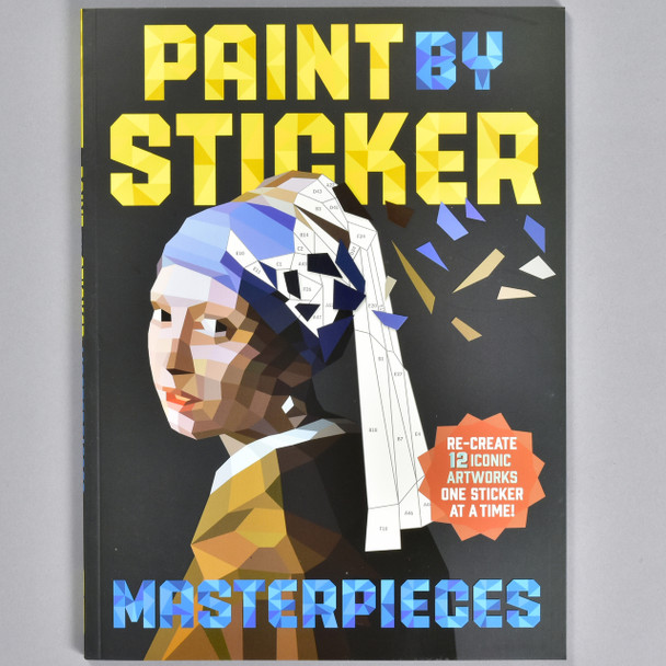 """Front cover of the book """"Paint By Sticker Masterpieces"""""""