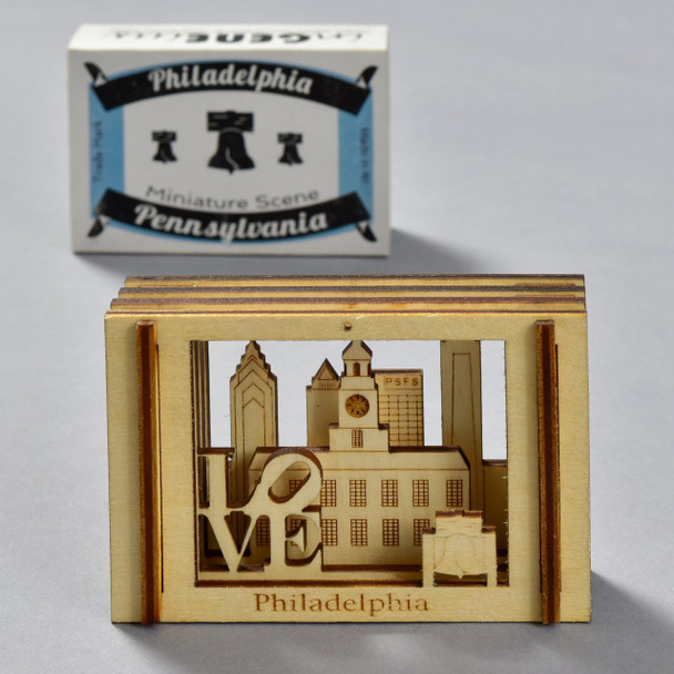 Philadelphia Matchbox Miniature with packaging