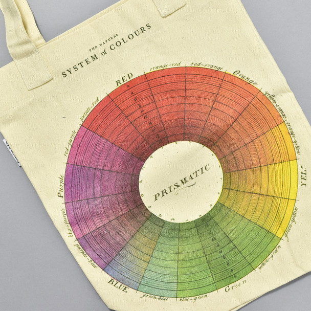 Color Wheel Tote Bag, close up