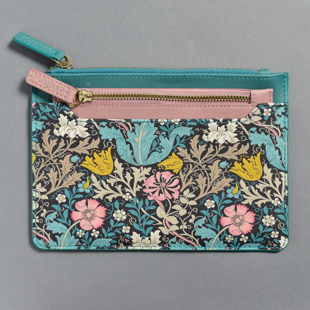 Blue and Pink William Morris & Co. Pouch Set Front