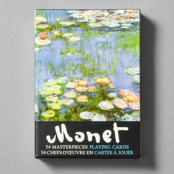 Front of packaging Monet Water Lilies Playing Cards