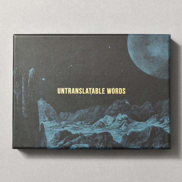 Front of Untranslatable Words Card Set