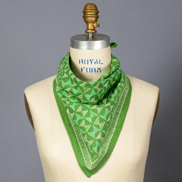 Green Hattie Bandana on mannequin